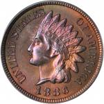 1886 Indian Cent. Type II Obverse. MS-65 RB (PCGS). CAC.