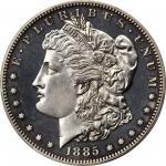 1885 Morgan Silver Dollar. Proof-63 Cameo (PCGS).