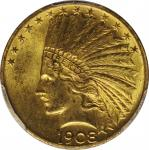 1908 Indian Eagle. Motto. MS-63 (PCGS).