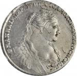 RUSSIA. Ruble, 1734. Anna. NGC MS-61.