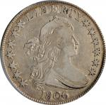 1806 Draped Bust Half Dollar. O-114a, T-16. Rarity-4. Pointed 6, Stem Not Through Claw. VF-25 (PCGS)