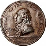 1777 Horatio Gates at Saratoga obverse cliche. Betts-557. White metal. Original striking. Workshop o