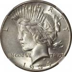 1934-S Peace Silver Dollar. MS-67 (NGC).