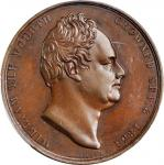 GREAT BRITAIN. William IV & Adelaide Coronation Bronze Medal, 1831. London Mint. PCGS SPECIMEN-63 Go