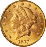 1877 Liberty Head Double Eagle. MS-61 (PCGS).
