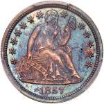 1857 Liberty Seated Dime. PCGS PF65