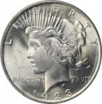 1923 Peace Silver Dollar. MS-66+ (PCGS). CAC.