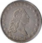 1795 Flowing Hair Half Dollar. O-109, T-16. Rarity-4. Two Leaves. EF-40 (PCGS).