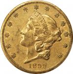 1859-S Liberty Head Double Eagle. FS-101. Doubled Die Obverse. EF-45 (PCGS). CAC.