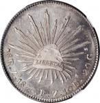 MEXICO. 8 Reales, 1895-Zs FZ. Zacatecas Mint. NGC MS-65.
