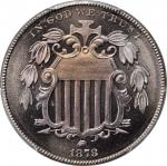 1878 Shield Nickel. Proof-67+ (PCGS).