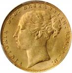 GREAT BRITAIN. Sovereign, 1885. London Mint. Victoria. PCGS MS-63 Gold Shield.