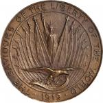 1919 World War One Victory Medal. Saviours of Liberty. Bronze. 44 mm. HK-903. Rarity-6. MS-64 (NGC).
