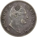 CHINESE CHOPMARKS: BRITISH INDIA: William IV, 1830-1837, AR rupee, 1835, KM-450.1, East India Compan