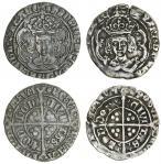Henry VII (1485-1509), Groats (2), both type IIIB, 2.96g, m.m. escallop, henric di gra rex angl z fr