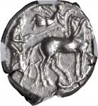 SICILY. Syracuse. Second Democracy, 466-406 B.C. AR Tetradrachm (17.22 gms), ca. 440 B.C. NGC AU, St