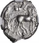 SICILY. Syracuse. Second Democracy, 466-406 B.C. AR Tetradrachm (17.22 gms), ca. 440 B.C. NGC AU, St