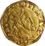 ITALY. Milan. Doppia, 1582. Philip II. NGC MS-62.