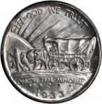 1933-D Oregon Trail Memorial. FS-101. Tripled Die Obverse. MS-66 (PCGS).
