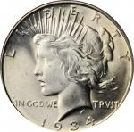 1934-D Peace Silver Dollar. MS-66 (PCGS).