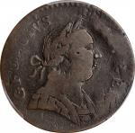 1788 Machins Mills Halfpenny / Connecticut Copper Mule. Miller 101-D, Vlack 13-88CT, W-8080. Rarity-
