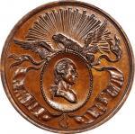 Circa 1858 Philadelphia Civic Procession medal restrike. Musante GW-130-R2, Baker-160E. Bronze. MS-6