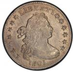 1801 Draped Bust Dime. John Reich-2. Rarity-5. Mint State-61 (PCGS).PCGS Population: 3, 1 finer (MS-