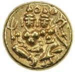MYSORE: Krishna Raja Wodeyar, 1799-1868, AV pagoda (3.43g), Cr-210. Fr-1358, Siva and Parvati seated