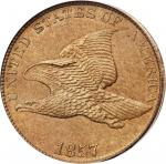 1857 Flying Eagle Cent. MS-64 (PCGS).