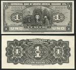 Commecial Bank of Spanish America, Ecuador an obverse and reverse archival photograph for the obvers