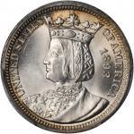 1893 Isabella Quarter. MS-65 (PCGS).