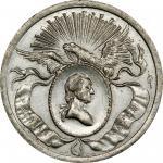 1832 Philadelphia Civic Procession medal. Original. Musante GW-130, Baker-160A. White Metal. UNC Det