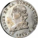 ECUADOR. 2 Reales, 1852-QUITO GJ. Quito Mint. NGC AU Details--Cleaned.