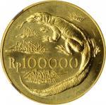 INDONESIA. 100000 Rupiah, 1974. London or Llantrisant Mint. NGC MS-64.