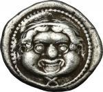 公元前425-400伊特鲁里亚银币 极美