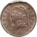 1837 Capped Bust Half Dime. Small 5¢. PCGS AU58
