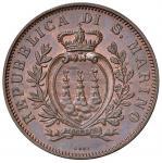 Italian coins;SAN MARINO 10 Centesimi 1894 - Gig. 32 CU (g 9.99) Conservazione eccezionale - FDC;200