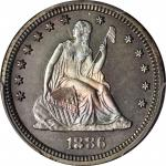 1886 Liberty Seated Quarter. Proof-66 (PCGS).