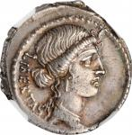 BRUTUS. AR Denarius (3.97 gms), Rome Mint, 54 B.C. NGC Ch EF, Strike: 4/5 Surface: 4/5. Light Scratc