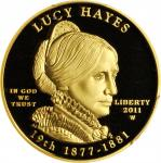 2011-W First Spouse Gold Bullion Coin. Lucy Hayes. Proof-70 Deep Cameo (PCGS).