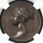 GREAT BRITAIN Victoria ヴィクトリア(1837~1901) AE Medal 1838 NGC-MS65BN UNC+