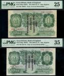 States of Guernsey overprints, Kenneth Oswald Peppiatt, 1 (2), 18 September 1941, serial number 78D