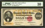 Fr. 1214. 1882 $100 Gold Certificate. PMG Very Fine 30.