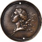 C. 1850? Libertas Americana Medal Obverse Design. Bronze cast, uniface. 42.6 mm. By Augustin Dupre.