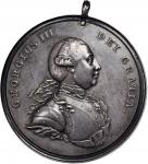 Undated (ca. 1776-1814) George III Indian Peace Medal. Large Size. Adams 7.2. (Obverse 2, Reverse A)