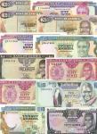 x Bank of Zambia, a selection comprising 50 ngwee (3), 1 kwacha, 10 kwacha, 20 (2), 50 (2), 500 (4)
