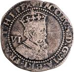England, silver sixpence, 1624, James I, fine