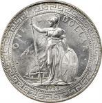 1929/1-B年英国贸易银元站洋一圆银币。孟买铸币厂。GREAT BRITAIN. Trade Dollar, 1929/1-B. Bombay Mint. PCGS MS-65+ Gold Shi