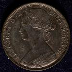 GREAT BRITAIN Victoria ヴィクトリア(1837~1901) Penny 1874H EF+