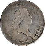 1794 Flowing Hair Half Dollar. O-108, T-6. Rarity-7. Good-4 (PCGS).